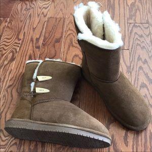 BearPaw Brown Boot Abigail Sz 11